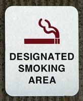 No smoking near building entrances
