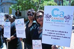 Patients protest over cancer services