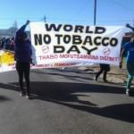 Community marches against use of tobacco