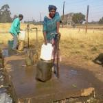 Residents of Zuzokuhle have to walk long distances to fetch water
