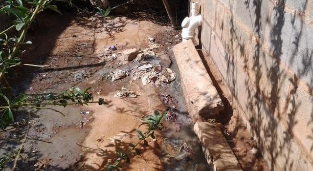 Blocked manhole causes health concern