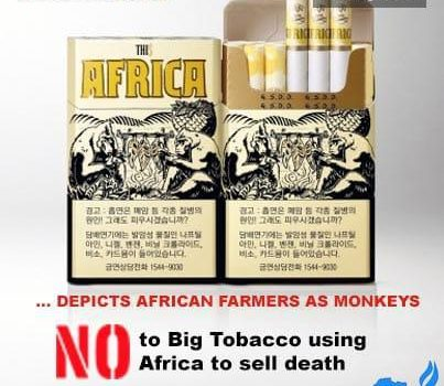 S. Korean tobacco firm 'depicts African farmers as monkeys'
