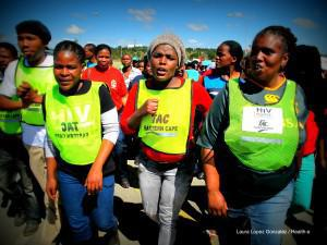 In 2013, TAC members protested against the alleged health systems collapse in the Eastern Cape