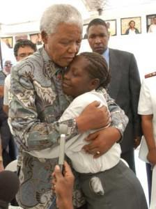 During Madiba's visit, he is touched by the story of Babalwa Thembani who asks him to work with government to provide HIV treatment for all