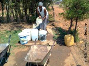 Stinkwater residents say they have to pay one rand for 20 litres of water