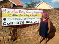 After a third of the children at Matilda Mothapo's crèche in Soshanguve outside of Pretoria developed measles