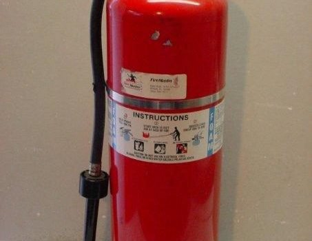 Clinic fire extinguisher not serviced for more than two years