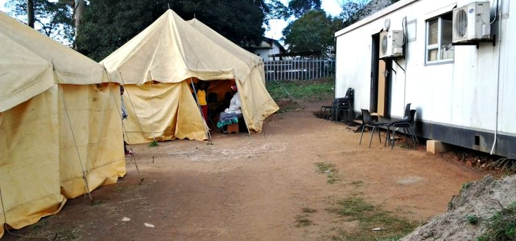 Temporary clinic leaves patients soggy
