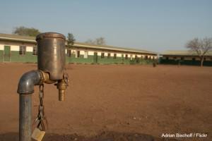 School water spout