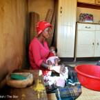 Nurse Hlophe says she waited more than six hours for an ambulance when she went into labour. Her mother delivered the baby at home.