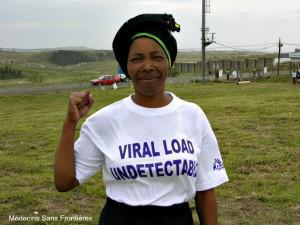 Patients with an undectable viral load are less likely to pass the infection onto others.