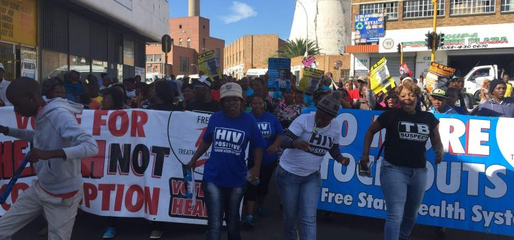 Free State protest for community health workers