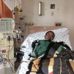 Nonhlanhla Kotwane visits Charlotte Maxeke Academic Hospital to undergo dialysis treatment 3 times week.
