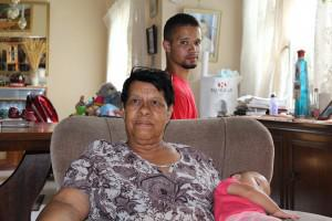 Lindre Playandi and his foster mom Helen Klaasen at their home in Eldorado Park where he has lived for 12 years