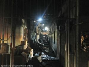 The blaze was hot enough to melt catheters and other medical supplies in the hospital's store.