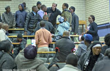 Unknown men clash with Treatment Action Campaign activists at the civil society-led People's Commission into health in the Free State