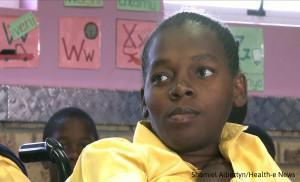 Makhosi Ndabambi is stuck in grade 7 because no nearby high school caters for her disability.