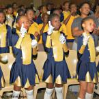 Learners at the Kutlwanong School for the Deaf sign the national anthem. About 20 percent of educators teaching deaf students have no knowledge of South African Sigh Language, according to a 2013 Cabinent-approved report submitted to the United Nations.