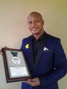 Dr Mphothulo - rural doctor of the year, 2015