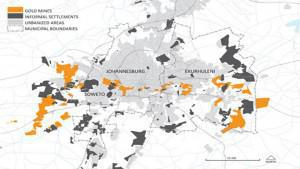 1.6 Million people live in informal settlements close to radioactive mine residue areas.  The majority of mine residue areas are radioactive because the Witwatersrand gold-bearing ores contain almost ten times the amount of uranium than gold.