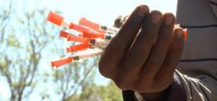 needles in hand