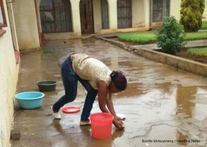 hen it rains, some Qwaqwa residents are not wasting the opportunity to collect rain water as water levels in the nearby Fika-Patso Dam remain low.