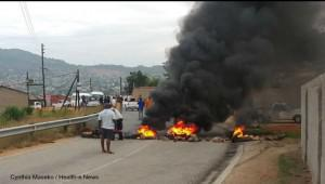 While the municipality has said that protests were sparked by ward counsellor nominations, some said that issues regarding the construction of a local road may have also played a part in the protests