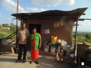 Diagnosed blind and mentally disabled as a baby, Prince Makhado  (L) has waited a decade to receive the disability grant that could help his family make ends meet.