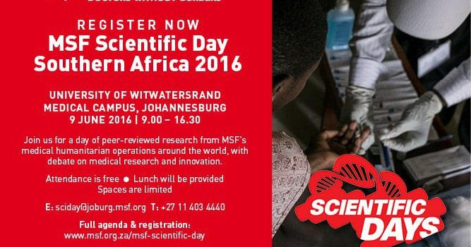 Register for MSF's Scientific Day