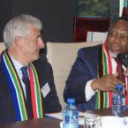 Aspen CEO Steven Saad and former Deputy President Kgalema Motlanthe
