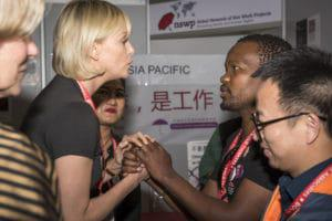 Charlize Theron at the AIDS conference