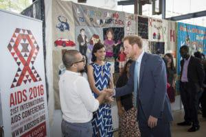 Prince Harry arriving at the International AIDS Conference. ©International AIDS Society/Steve Forrest/Workers' Photos