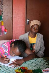Linah Choene, who has lost her hearing because of the MDR tuberculosis treatment she was on, is now forced to write messages down when she wants to communicate with her mother Martha.