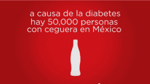 A Mexican advertisement exposing the role of sodas in causing diabetes.