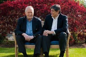 AP founder billionaire Chuck Feeney and AP CEO Chris Oeschli.
