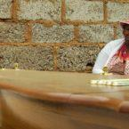 Bertha Molefe attends the funeral of her daughter, Sophia Molefe.