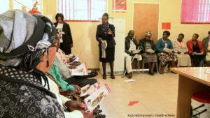 Gwen Nyathi meets monthly with 24 Diabetic patients to discuss how best to manage their illness.