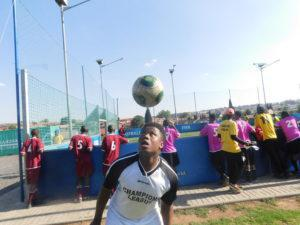 Tumelo Seditsi, one of the participants at Grassroots Soccer, has been empowered in both playing soccer and life skills.