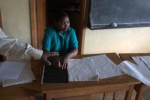 Blind student doing her lessons. (Credit: Flickr/ Mark Lennox)
