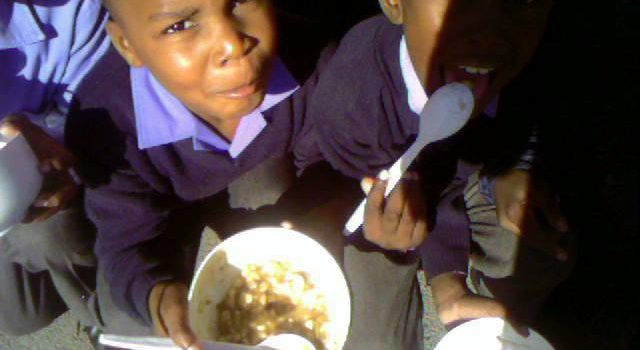 Hungry learners rely on a school feeding scheme