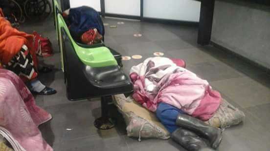 Patients forced to sleep on the floor