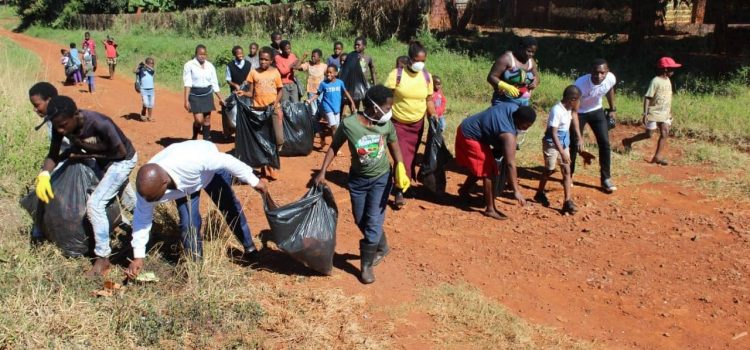 Rural students lead initiative to clean the environment