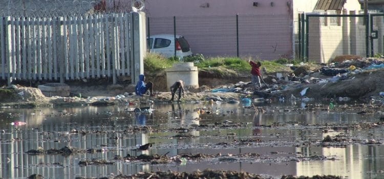 Sewage-polluted streets plague community