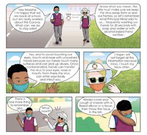 Coronavirus Comic Learner Education