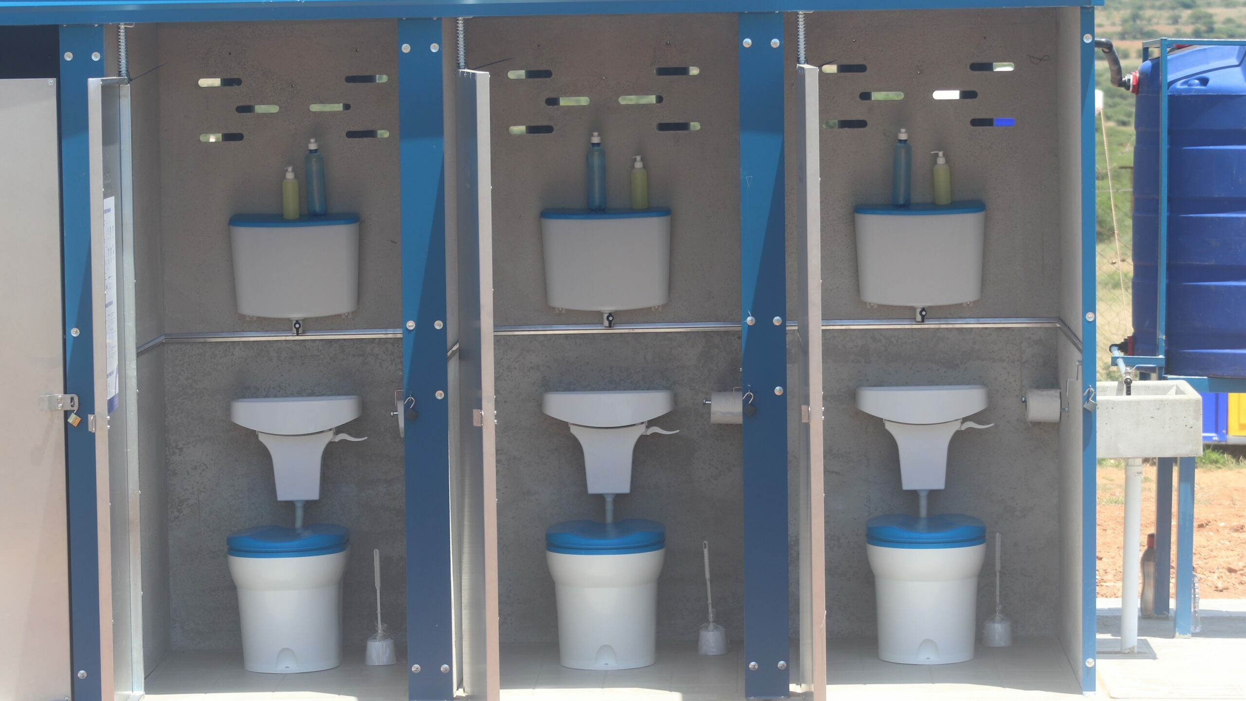 Amalooloo Waterless Sanitation System Solution for Pit Latrines