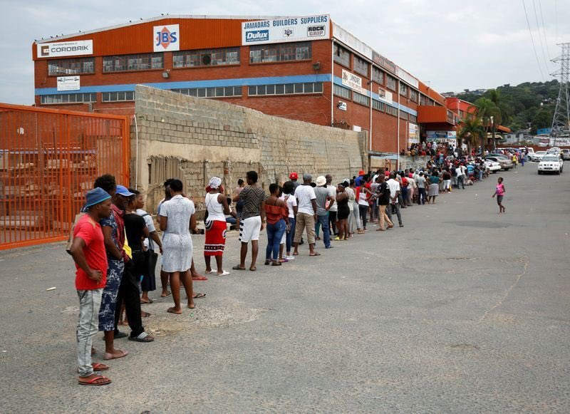People Queuing for services