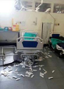 Tshepong hospital in Klerksdorp vandalised by strikers who want bonuses