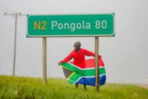 Nyiko Masango in KwaZulu Natal approaching Pongola