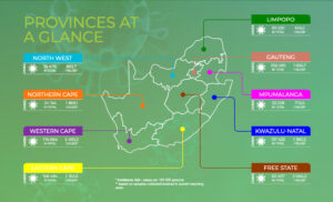 South Africa's provinces showing infection rate as of December 19 2020