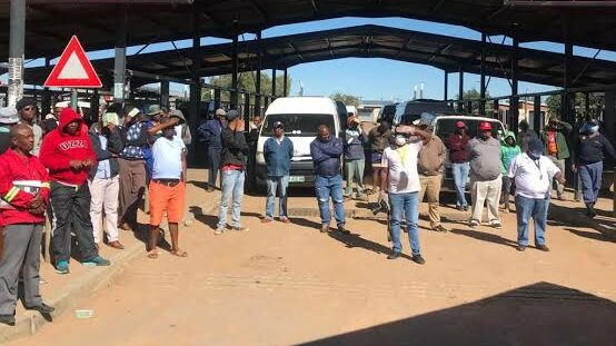 Taxi Drivers and passengers in North West